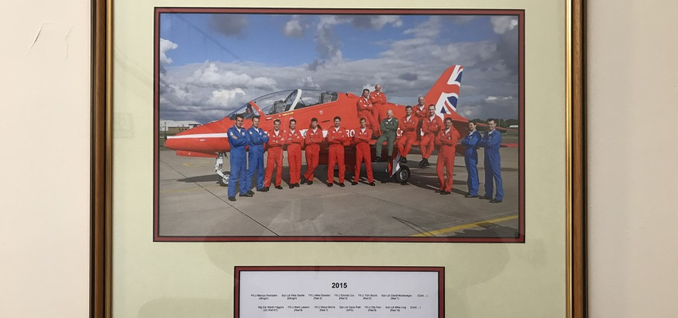 Red Arrows 2015 Team photograph